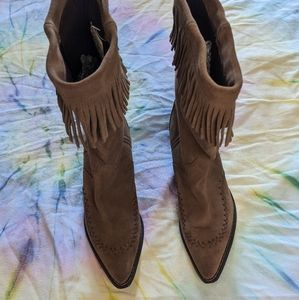 Crush by Durango Women's Suede Fringe Boots Size 8